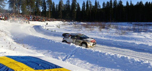 WRC  RALLY SWEDEN  2015  - PHOTO : CITROEN RACING/AUSTRAL 04 Citroen Total Abu Dhabi WRT, Ostberg Mads, Andersson Jonas, DS 3 WRC, Action