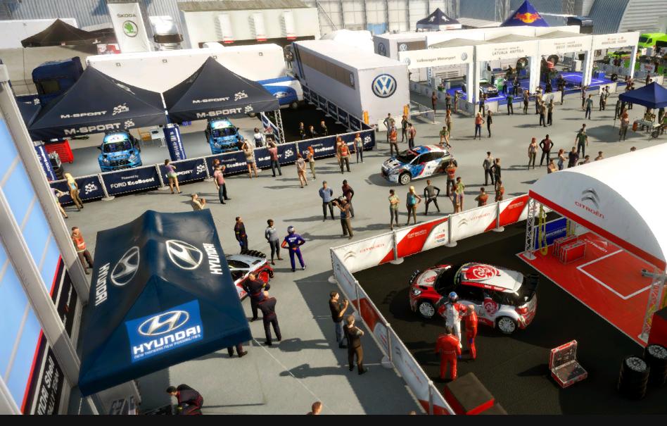Loading screen in WRC6